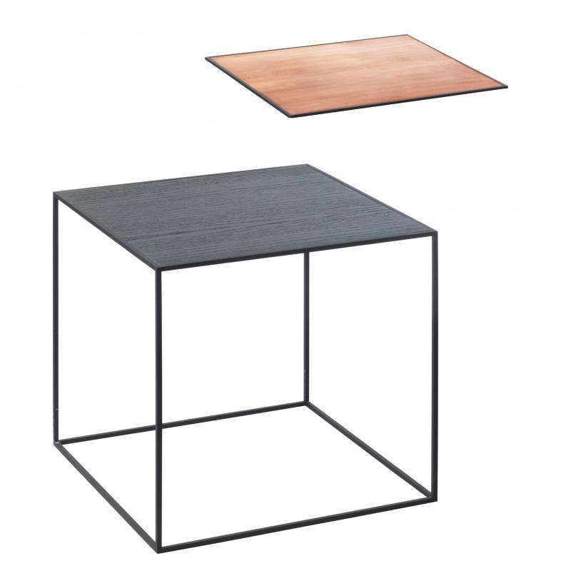 By Lassen Twin table 35 black ash/copper