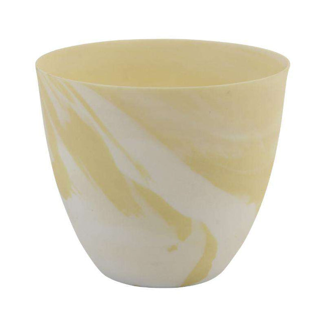 &klevering tea light holder marble print large yellow