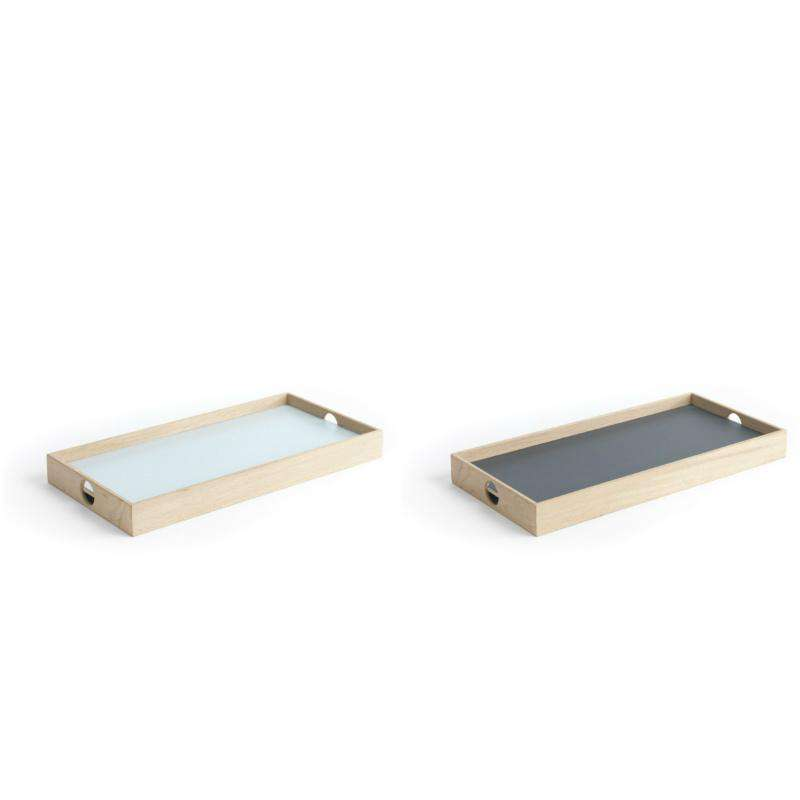 Oak Men flip tray rectangular dark grey/light blue