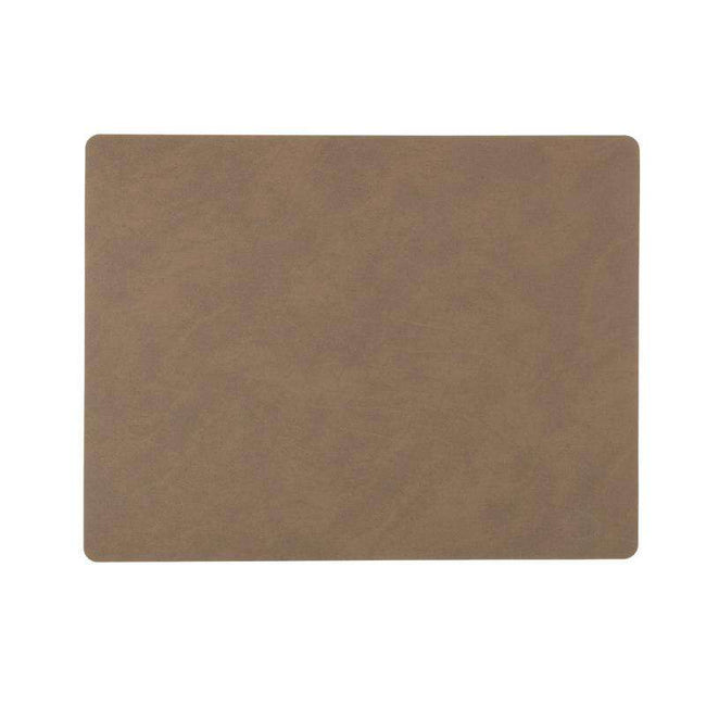 Linddna placemat rectangular brown eather nupo