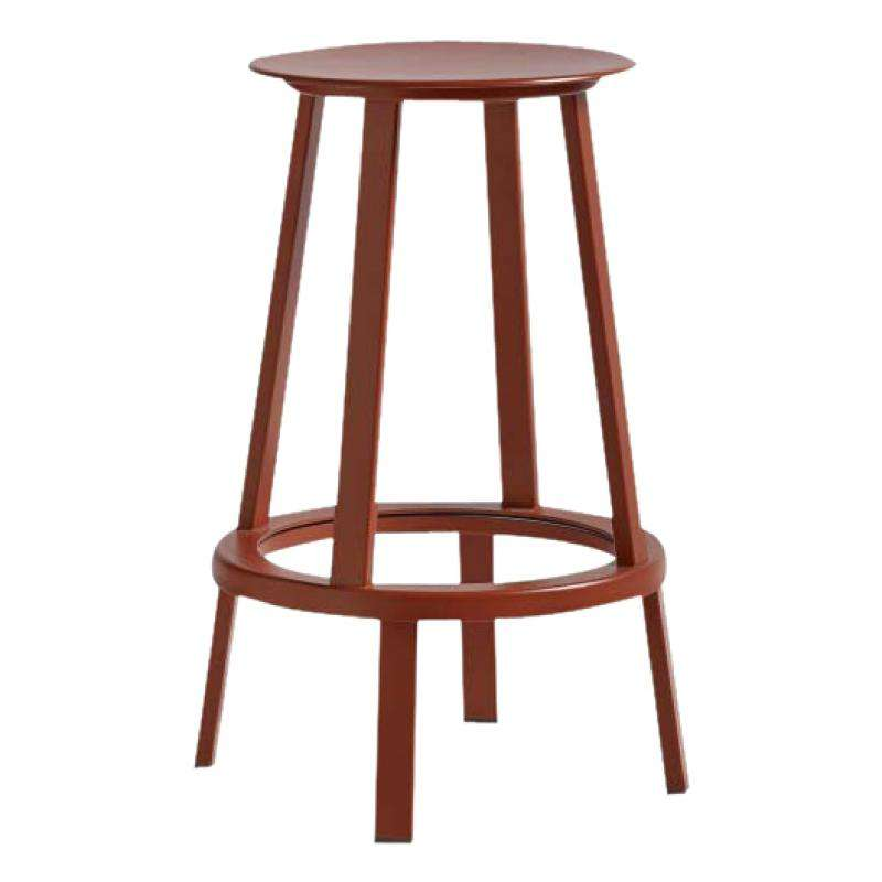 Revolver Bar stool H 65 red