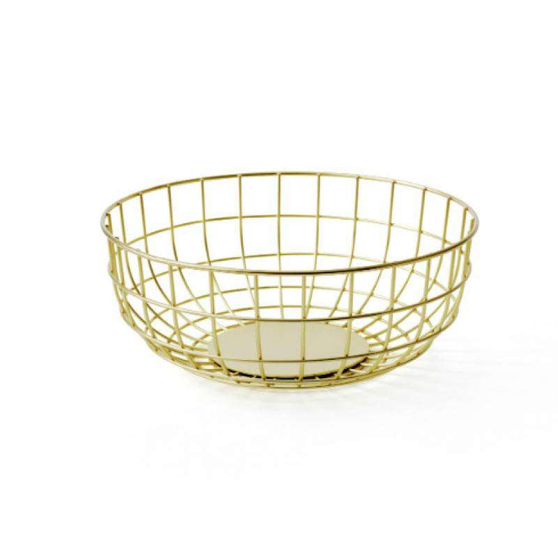 Menu wire bowl brass fruit bowl gold