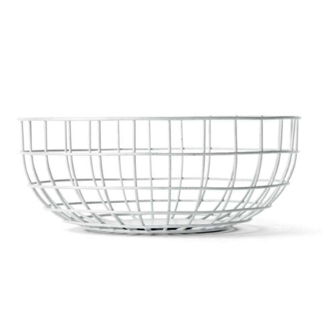 Menu wire bowl white