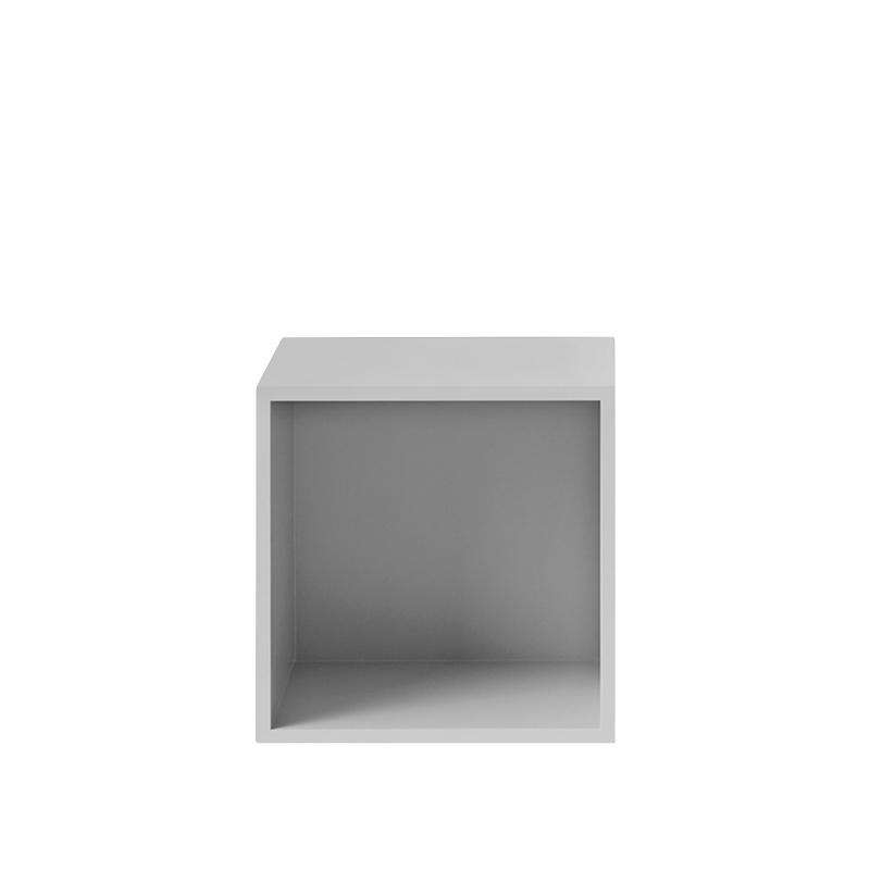 Muuto Stacked storage system with backboard medium light grey