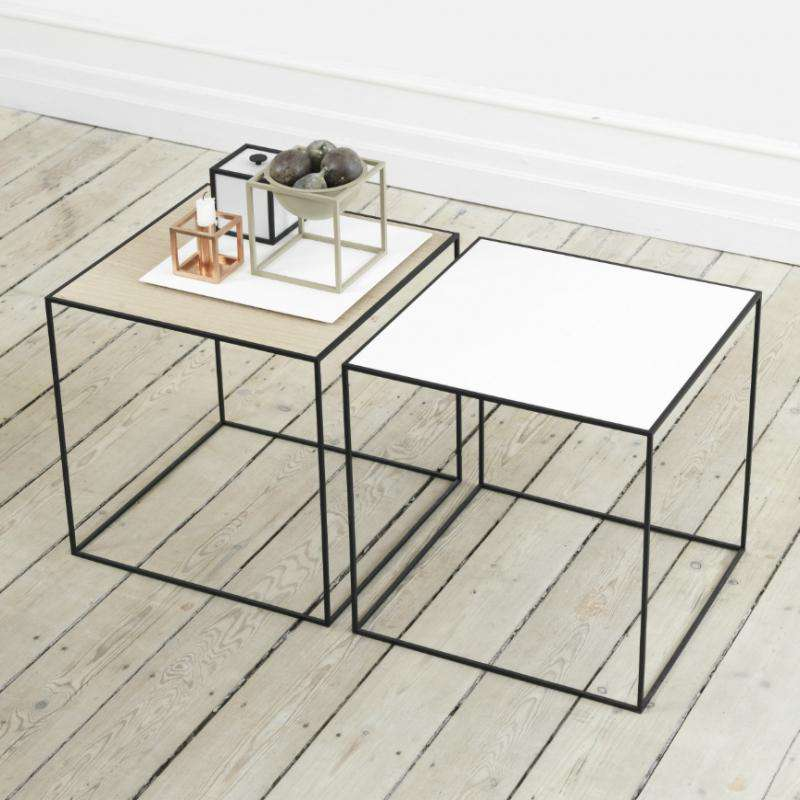 Twin table 42 white/oak