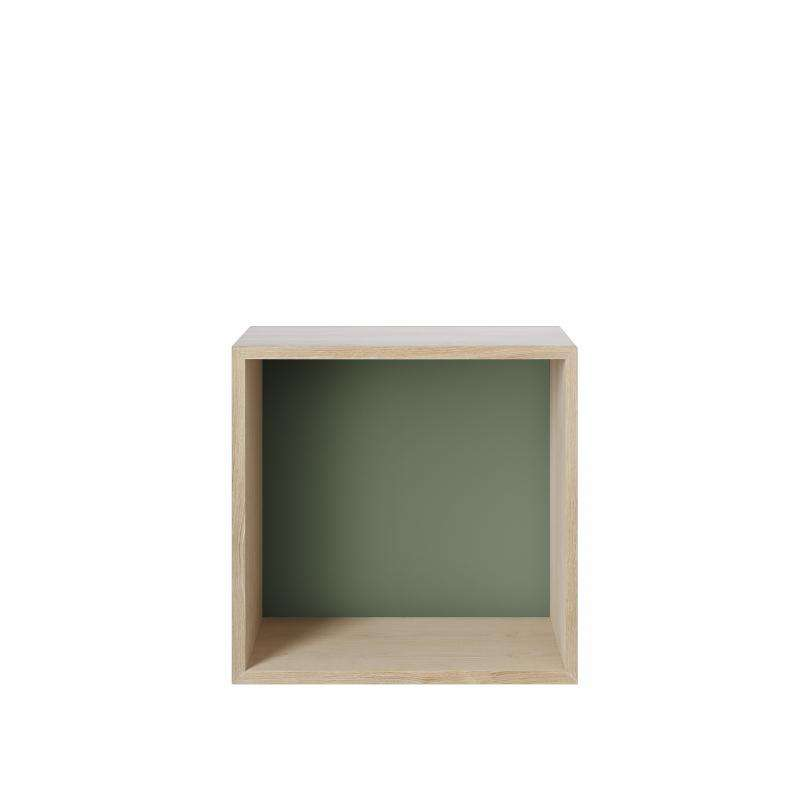 Muuto Mini Stacked storage system medium colored background green