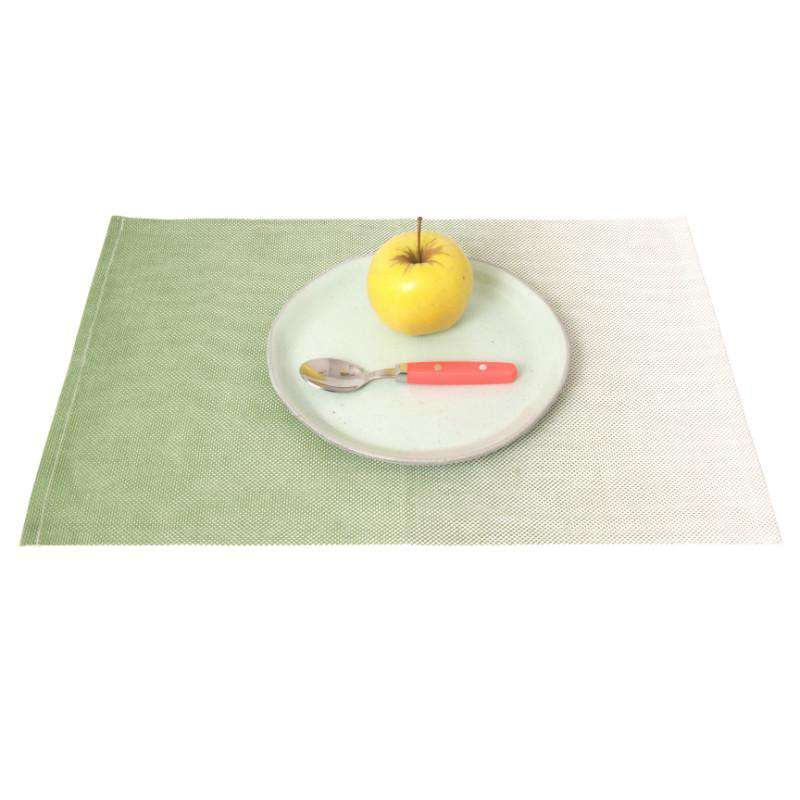 Present Time placemat ombre neon green