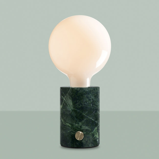 Orbis table lamp green marble