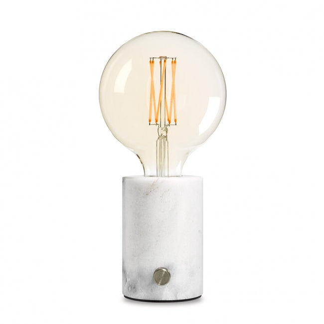 Orbis lampe de table marbre blanc