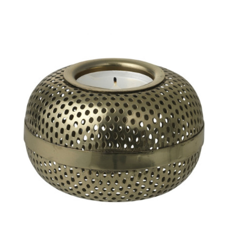 Tealight holder brass Hilda Louise Roe Copenhagen