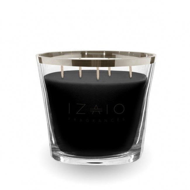 Izaio scented candle soho argento medium lava grey