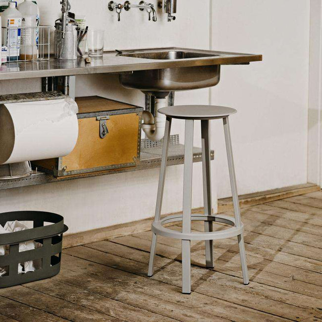 Revolver Bar stool H 76 grey