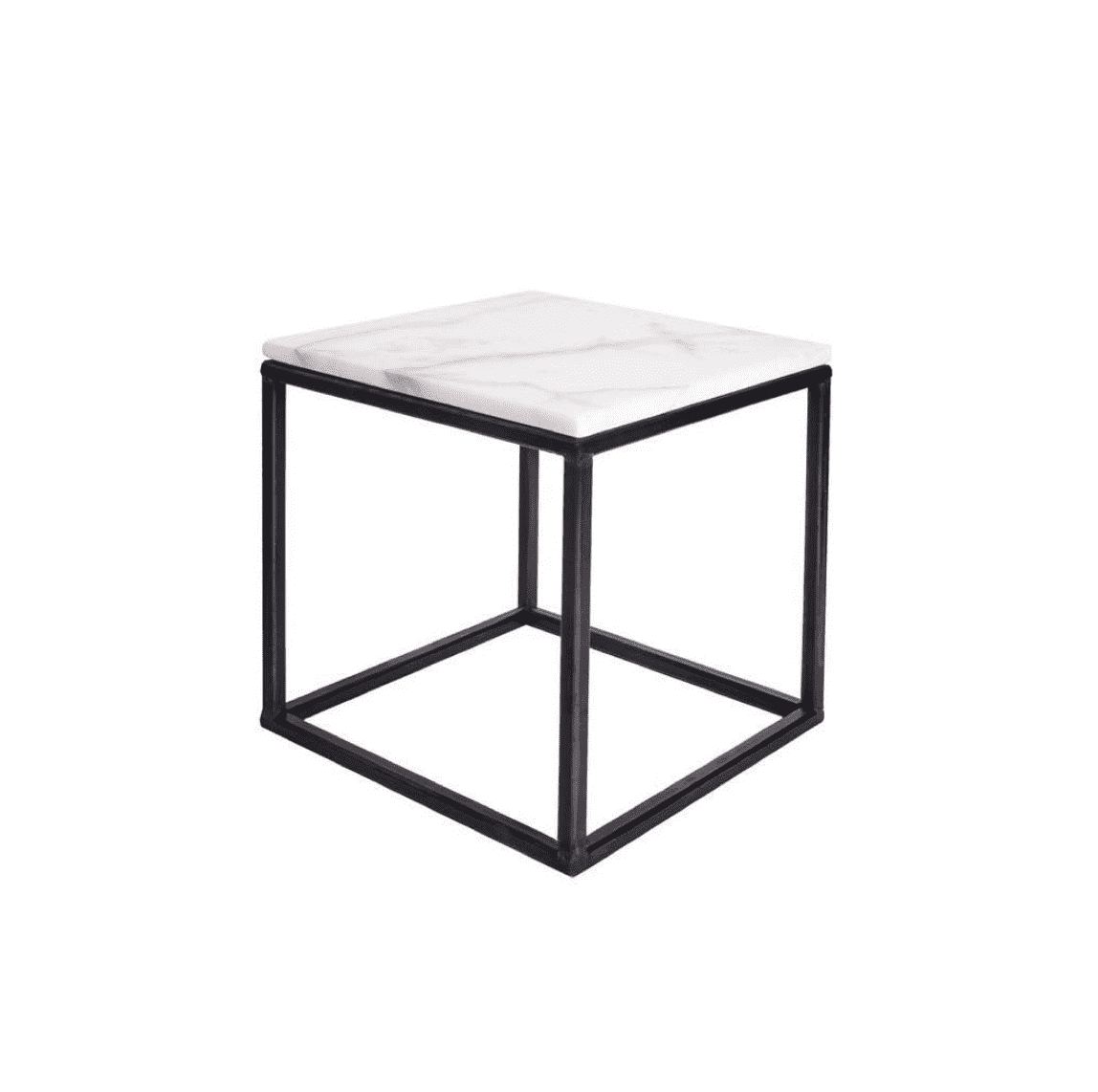 Marble side table white 30x30