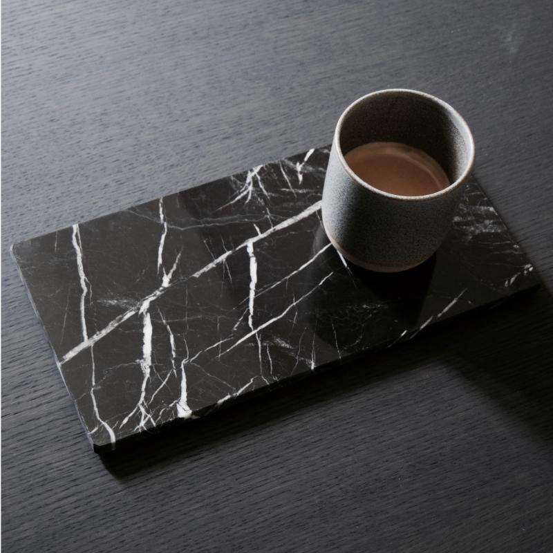 Marble board rectangular 20x40 dark grey