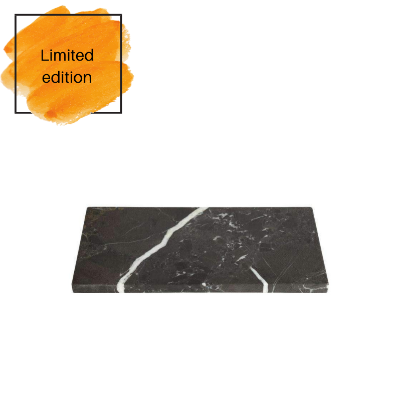 Marble rectangular board 20x40 grey