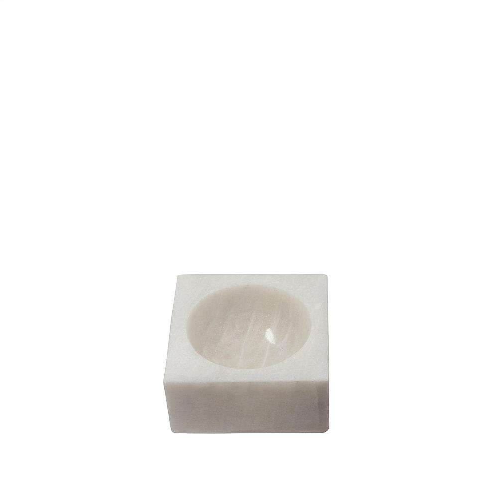 Stoned Marble white block bowl marble