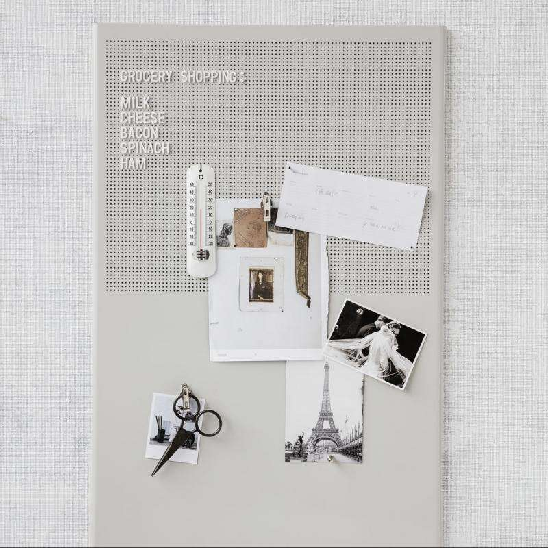Notice board Grid grey