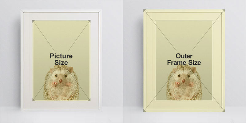 picture vs frame size
