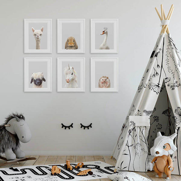 featured animal art prints in the nursery