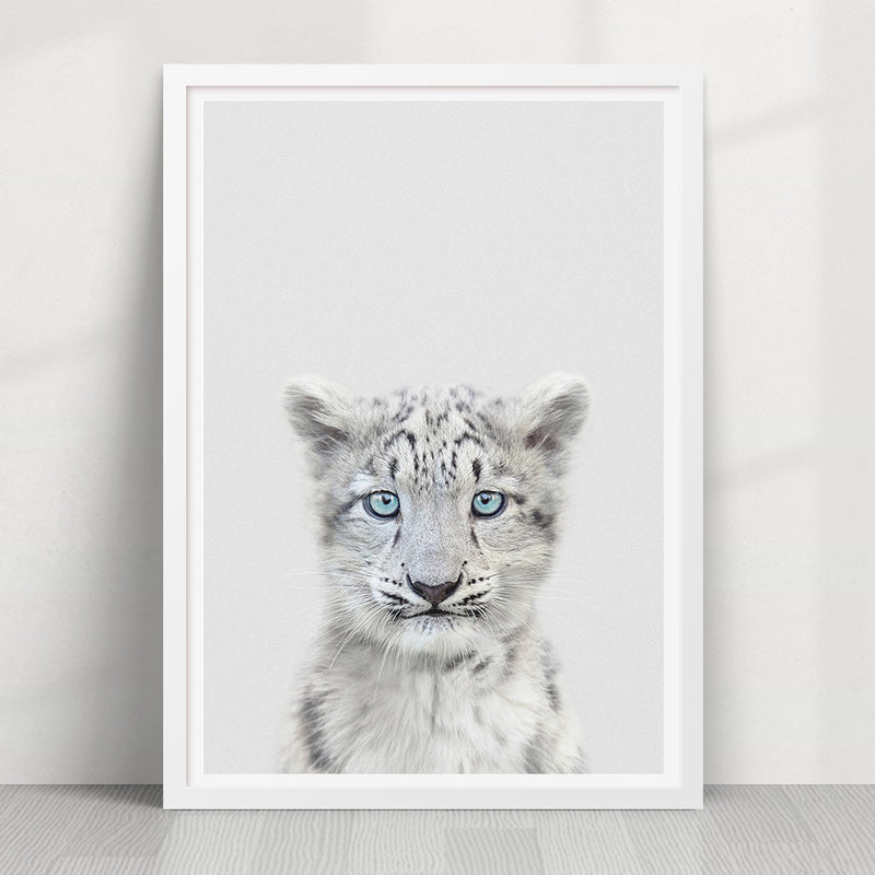 Snow Leopard Print - Strawberry Valley Prints Ltd