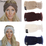 Knitted Turban Winter Warm Crochet Headband With Wide Ear Warmer