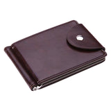 Mini Men's leather Money Clip wallet with clamp