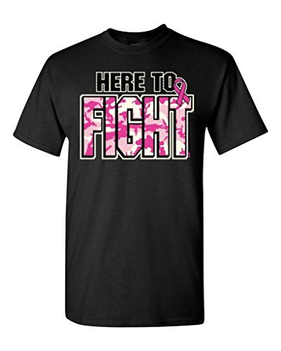 O-Neck Here To Fight Breast Cancer Awareness Short Sleeve T-shirt For Men