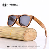 Unisex Wooden Frame Polarized Sunglasses