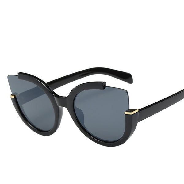Cat Eye Sunglasses for Women with Mirror Finish Lenses