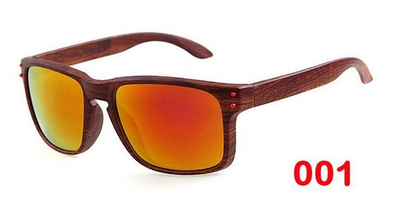 Bamboo Wooden Framed Sunglasses with Polarized Lenses