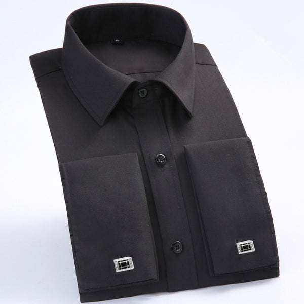Men's French Cufflinks Dress Slim Fit Shirt