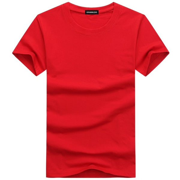 Casual Short Sleeve Solid Men's Cotton T-Shirt