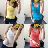 Sleeveless Solid Color Tank Top