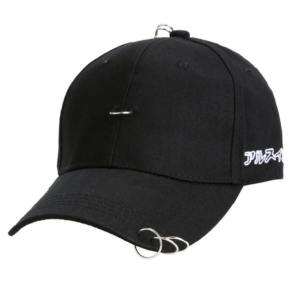 Unisex Stylish Baseball Cap with Rings