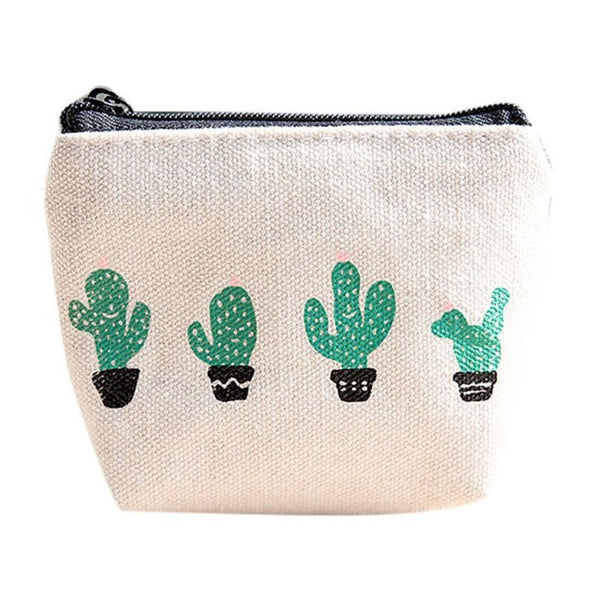 Cute Cactus Coin Purse for Women