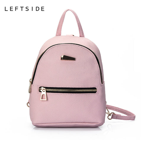 Women's Leather Mini Backpack 3 Colors