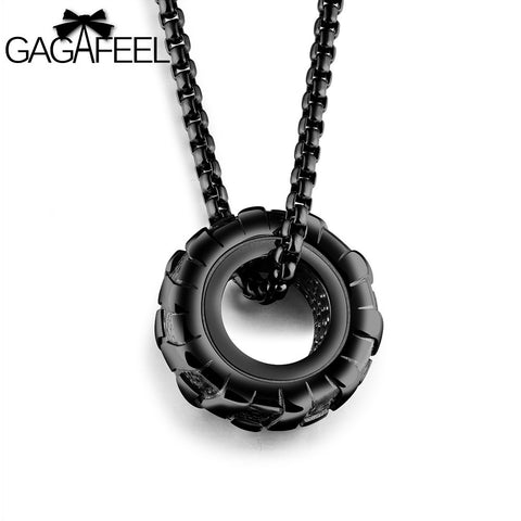 Stainless Steel Tire Pendant in 3 Styles
