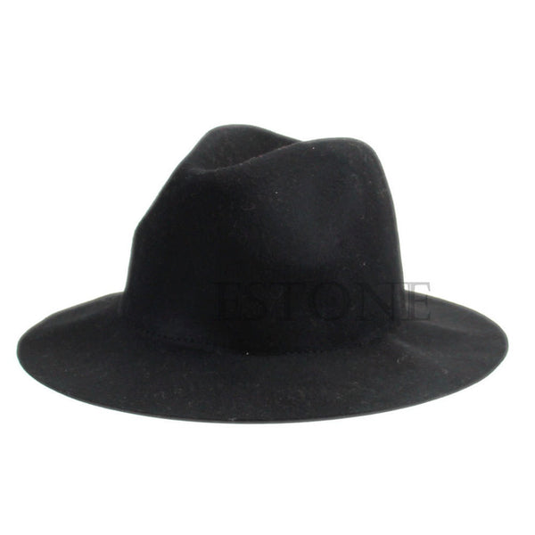 Vintage Wool Fedora Hat for Women