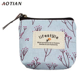 Fashion Small Canvas Purse Zip Lady Coin Purse Bag Handbag Key Holder Comfystyle