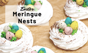 Easter meringue nests