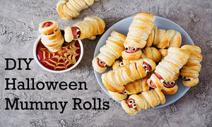 How to make Halloween hot dog rolls