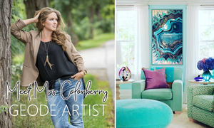 Geode Paintings | The Latest Trend In Luxury Decor
