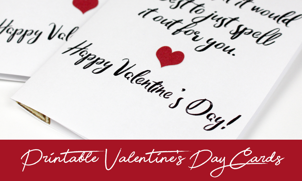 photograph regarding Happy Valentines Day Printable named Valentines Working day Card Cost-free Printable - Do-it-yourself Craft Club