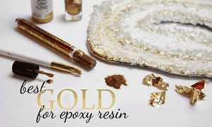 best gold for epoxy resin and geode resin art