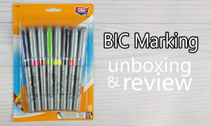 Bic markers review and unboxing to see how well they work on many things