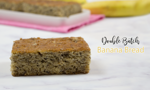 best and easy double batch banana bread recipe