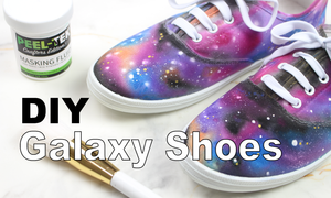 How To Paint Galaxy Shoes