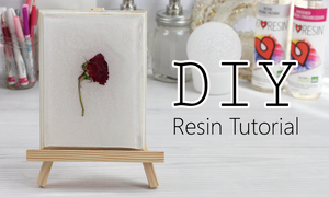 how to cast dried flowers in resin tutorial