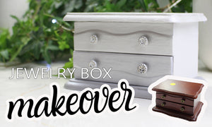 chalk painting tutorials jewelry box makeover