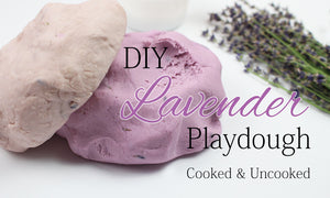 lavender playdough recipe cooked and uncooked